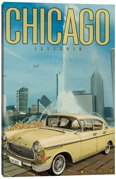 Chicago City of the Future Canvas Art Print