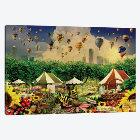 Chicago Farmers Market Season Canvas Print #ORT112} by Old Red Truck Canvas Artwork
