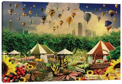 Chicago Farmers Market Season Canvas Art Print