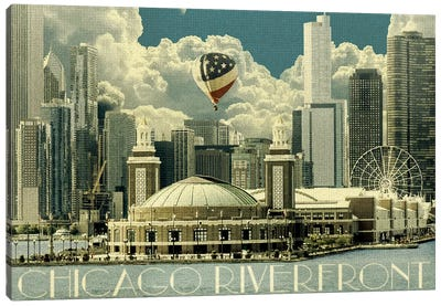 Chicago River Cruise Day Canvas Art Print