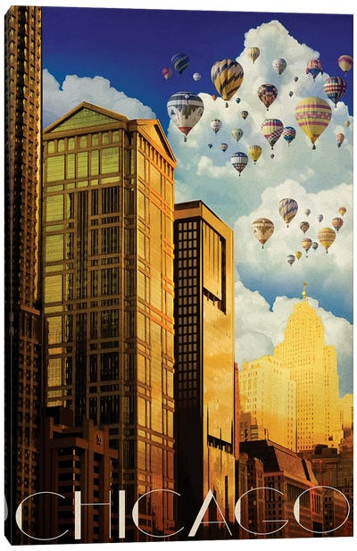 Chicago Summer Canvas Art Print