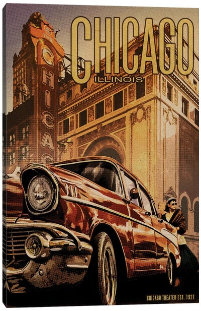 Chicago Theater Canvas Art Print