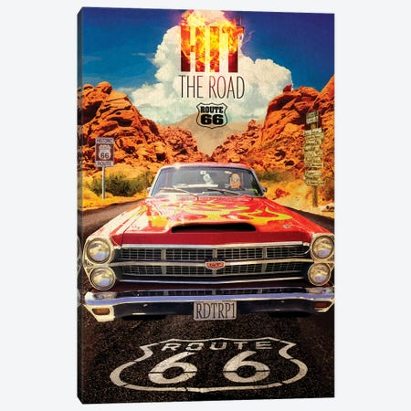 Desert Run Canvas Print #ORT119} by Old Red Truck Canvas Wall Art
