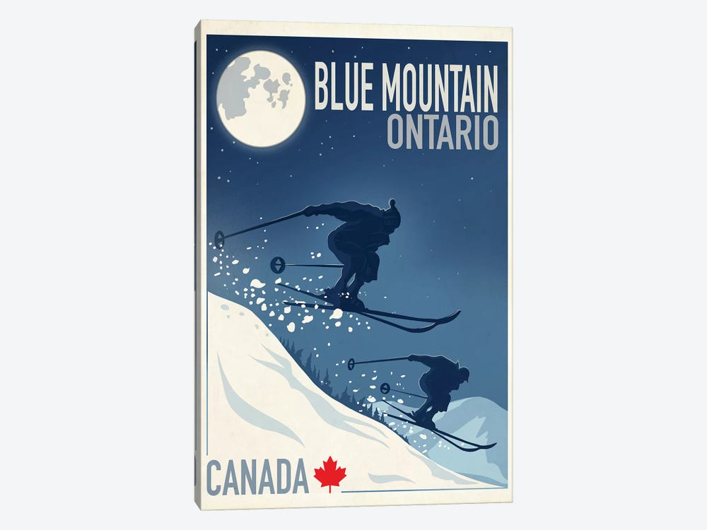 Blue Mountain I by Old Red Truck 1-piece Canvas Wall Art
