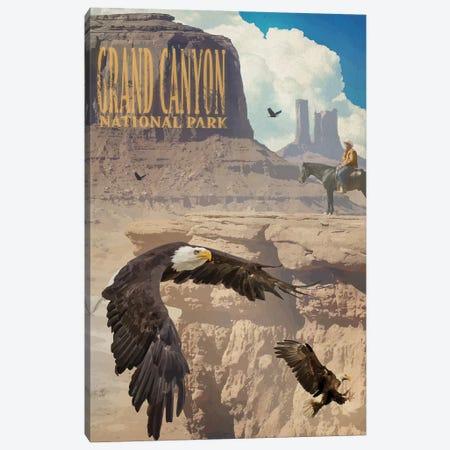 Eagle Rise Grand Canyon Canvas Print #ORT120} by Old Red Truck Canvas Art Print