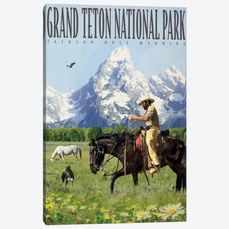 Grand Teton Canvas Print #ORT124} by Old Red Truck Canvas Art