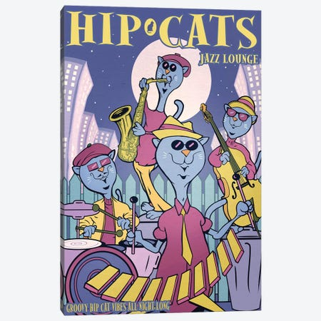 Hip Cats Canvas Print #ORT126} by Old Red Truck Canvas Art
