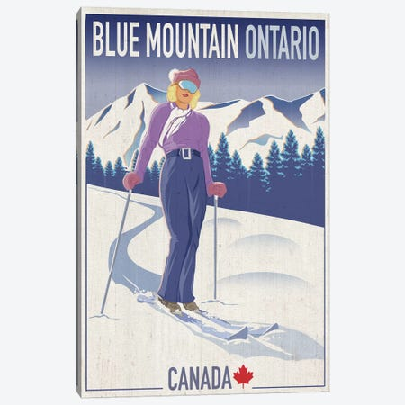 Blue Mountain II 3-Piece Canvas #ORT12} by Old Red Truck Art Print