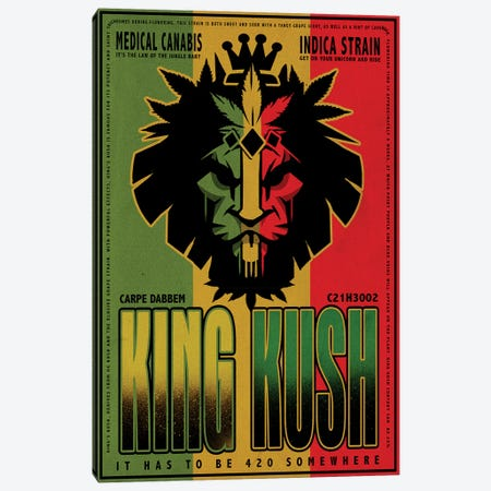 King Kush Canvas Print #ORT131} by Old Red Truck Canvas Wall Art