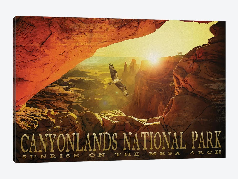 Mesa Arch by Old Red Truck 1-piece Canvas Wall Art