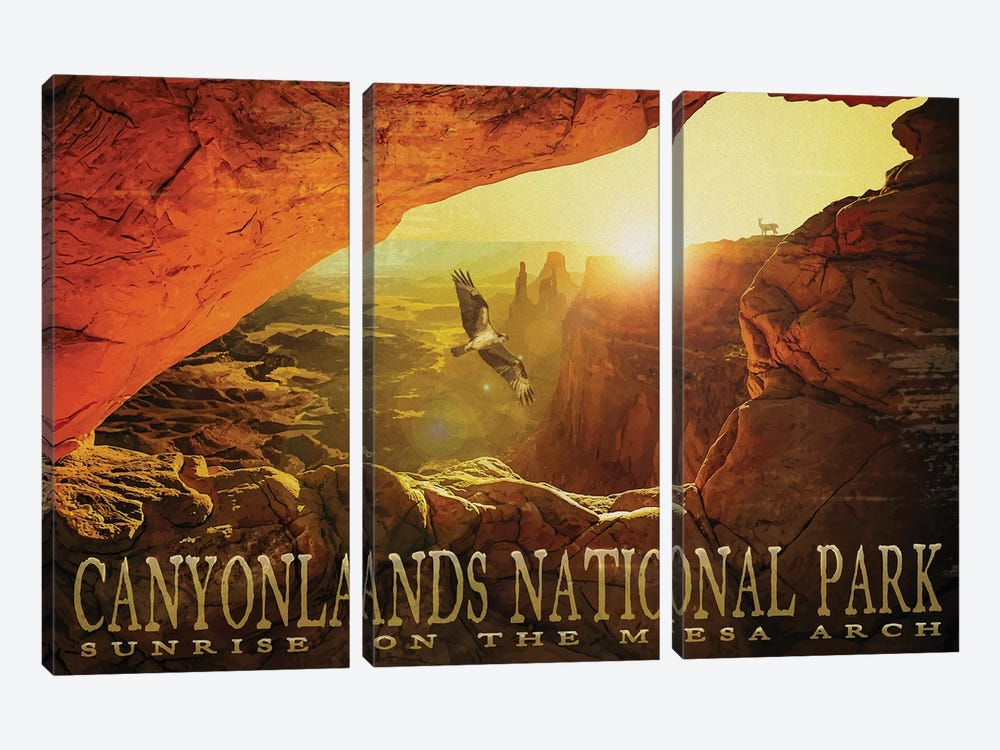 Mesa Arch by Old Red Truck 3-piece Canvas Artwork