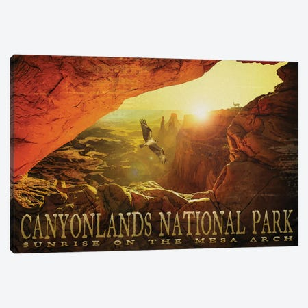 Mesa Arch 3-Piece Canvas #ORT136} by Old Red Truck Canvas Print