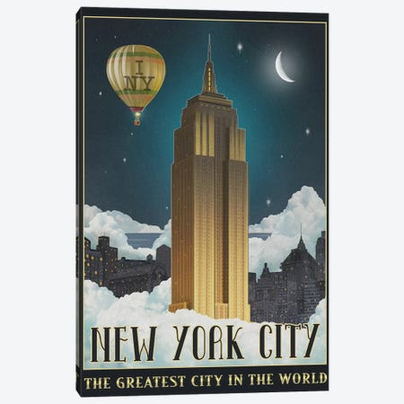New York Night Canvas Print #ORT141} by Old Red Truck Art Print