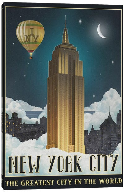 New York Night Canvas Art Print