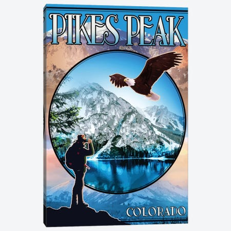 Pikes Peak 3-Piece Canvas #ORT145} by Old Red Truck Canvas Art