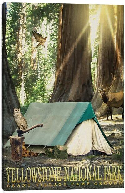 Redwood Camping Canvas Art Print