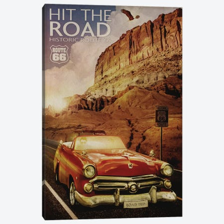 Route 66 Canvas Print #ORT149} by Old Red Truck Art Print