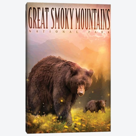 Smokey Mountain Bears Canvas Print #ORT152} by Old Red Truck Canvas Artwork
