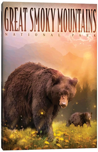 Smokey Mountain Bears Canvas Art Print