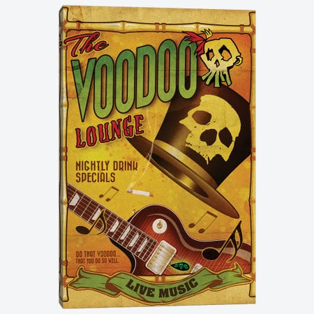 The Voodoo Lounge Canvas Print #ORT157} by Old Red Truck Art Print