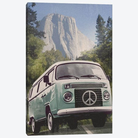 Vans Across America: Peace Canvas Print #ORT158} by Old Red Truck Canvas Art