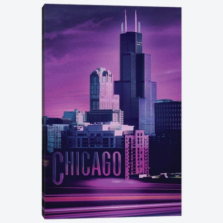 Violet Chicago Canvas Print #ORT160} by Old Red Truck Canvas Art Print