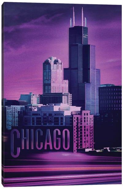 Violet Chicago Canvas Art Print