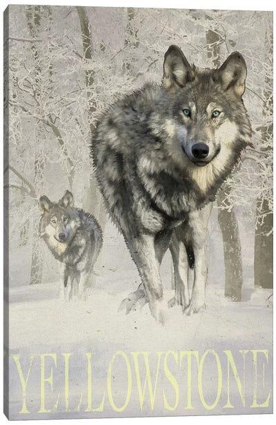 Wolf Snow Canvas Art Print