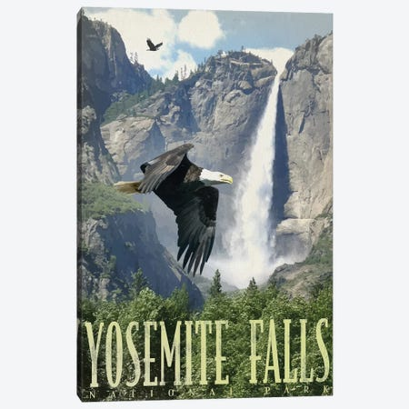 Yosemite Falls Canvas Print #ORT164} by Old Red Truck Canvas Wall Art