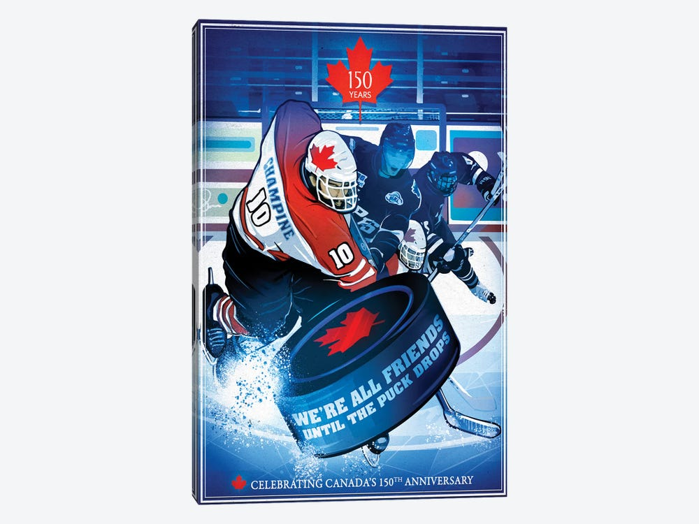 Canada's 150th Anniversary, Slapshot by Old Red Truck 1-piece Art Print