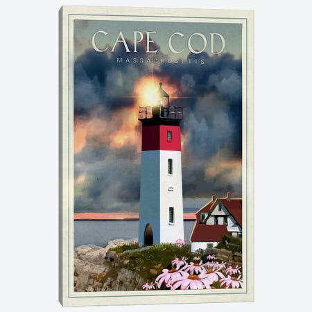 Cape Cod 3-Piece Canvas #ORT19} by Old Red Truck Canvas Print