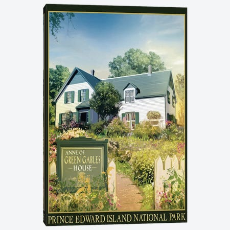 Anne Of Green Gables House Canvas Print #ORT1} by Old Red Truck Canvas Wall Art