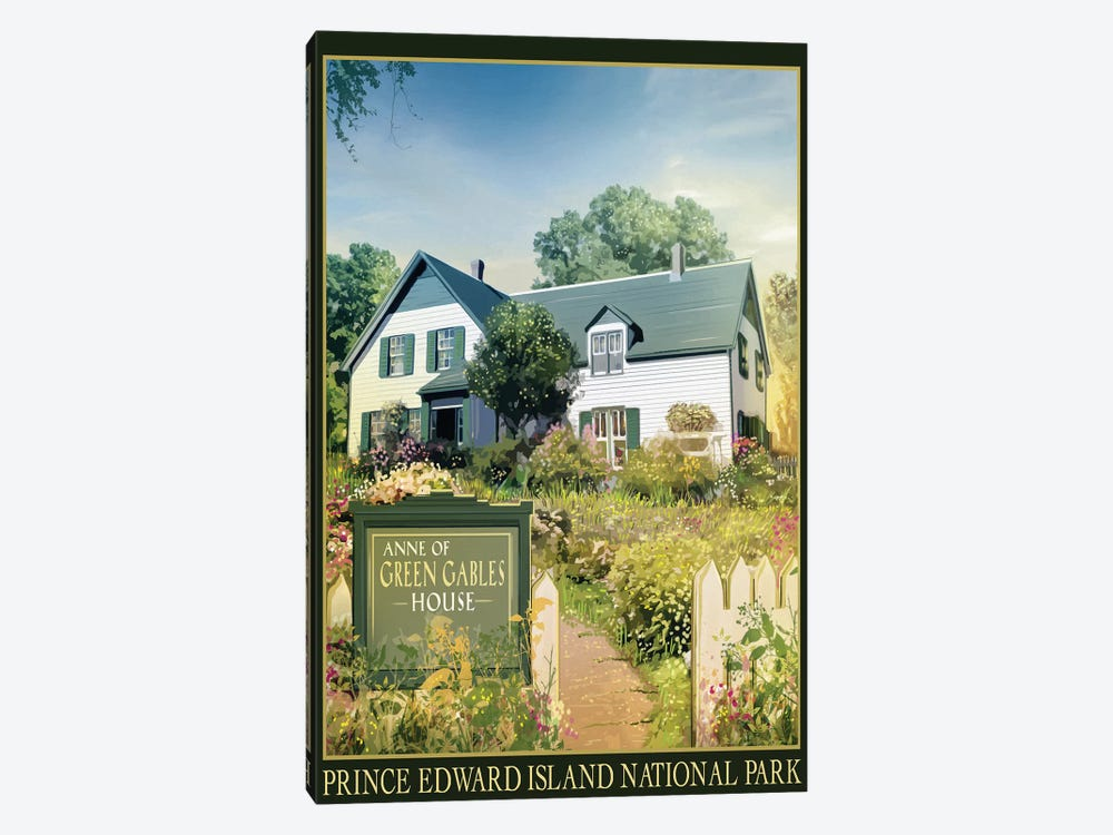 Anne Of Green Gables House by Old Red Truck 1-piece Canvas Art Print