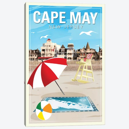 Cape May Canvas Print #ORT20} by Old Red Truck Canvas Wall Art