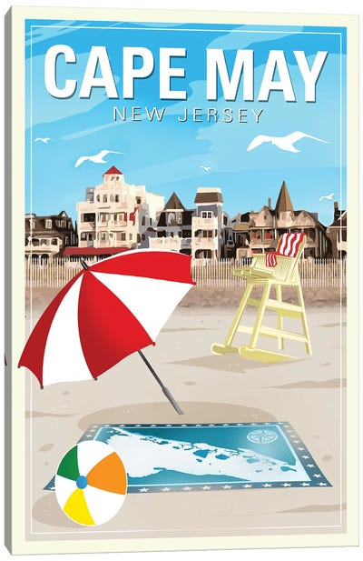 Cape May Canvas Art Print