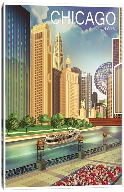 Chicago I Canvas Art Print