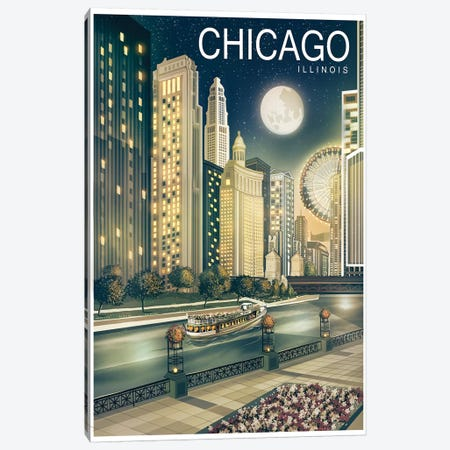 Chicago II Canvas Print #ORT24} by Old Red Truck Canvas Art Print