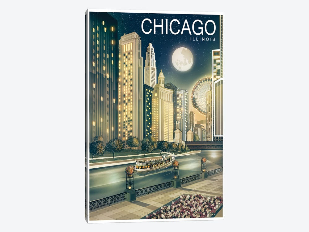 Chicago II 1-piece Canvas Art