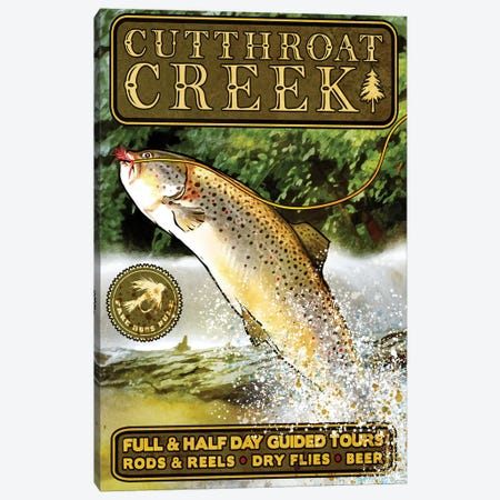 Cutthroat Creek Brown Trout Canvas Print #ORT25} by Old Red Truck Canvas Print