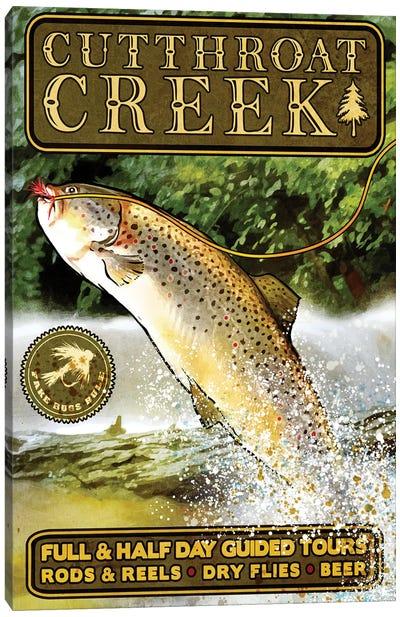 Cutthroat Creek Brown Trout Canvas Art Print