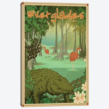 Everglades Canvas Print #ORT27} by Old Red Truck Art Print
