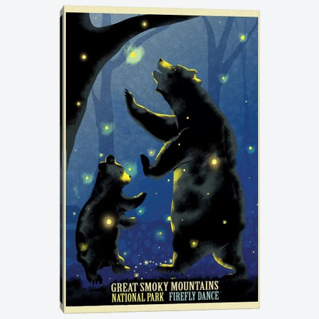 Firefly Dance Canvas Print #ORT29} by Old Red Truck Canvas Artwork