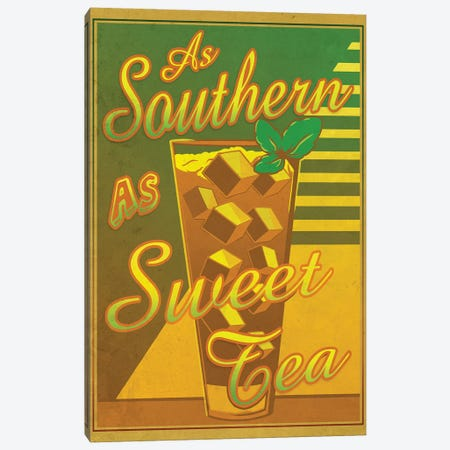 As Southern As Sweet Tea Canvas Print #ORT2} by Old Red Truck Canvas Artwork