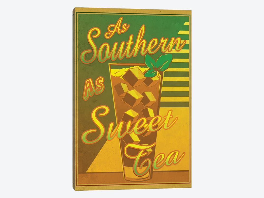 As Southern As Sweet Tea by Old Red Truck 1-piece Canvas Art