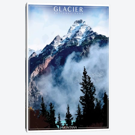 Glacier National Park Canvas Print #ORT33} by Old Red Truck Canvas Art Print