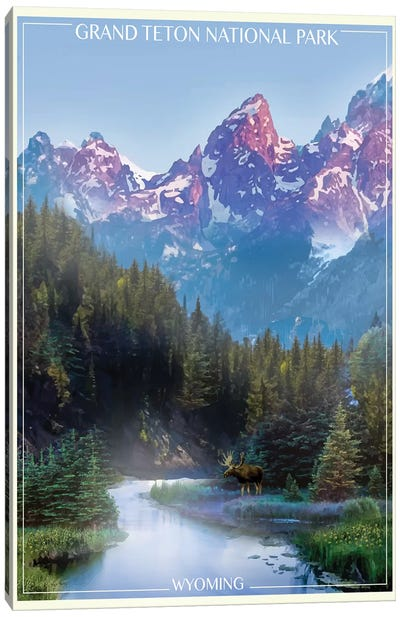 Grand Tetons Canvas Art Print
