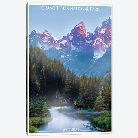 Grand Tetons 3-Piece Canvas #ORT38} by Old Red Truck Art Print