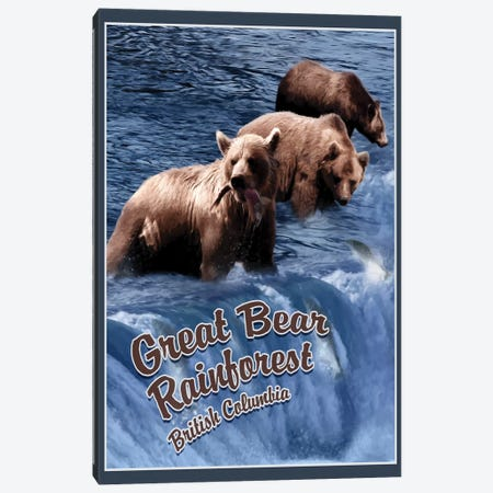 Great Bear Rainforest 3-Piece Canvas #ORT40} by Old Red Truck Canvas Wall Art