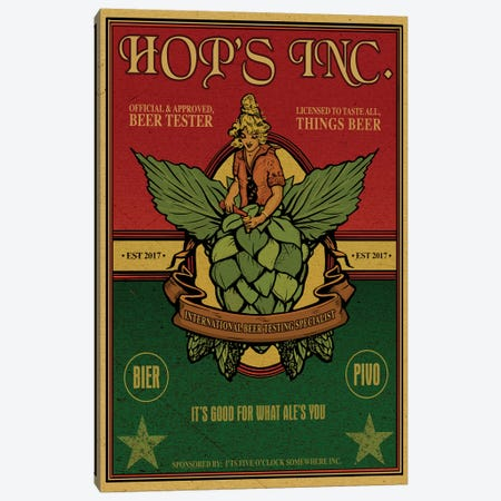 Hop's Inc. Canvas Print #ORT43} by Old Red Truck Canvas Art