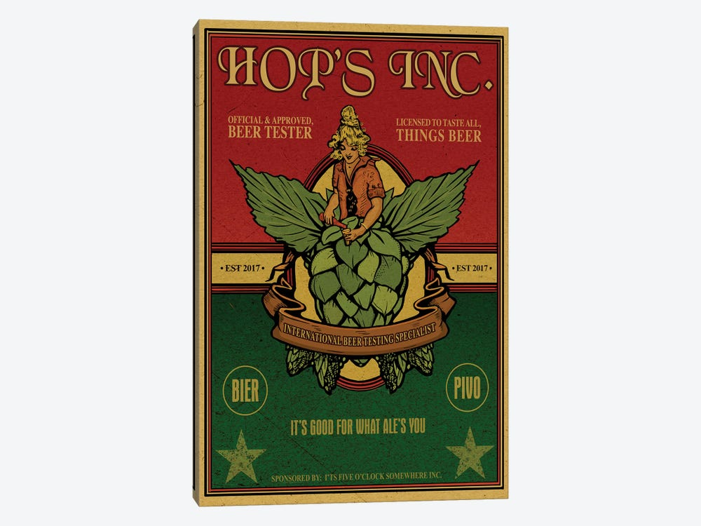 Hop's Inc. by Old Red Truck 1-piece Canvas Print
